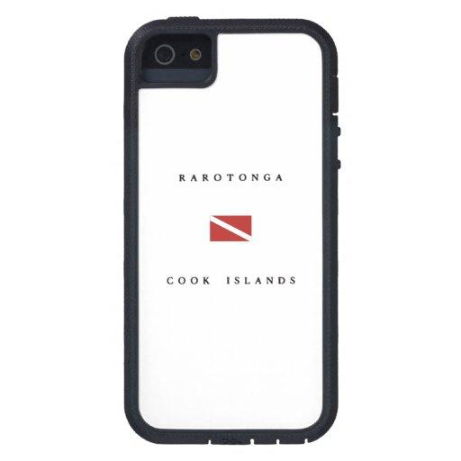 Rarotonga Cook Islands Scuba Dive Flag iPhone 5 Cases