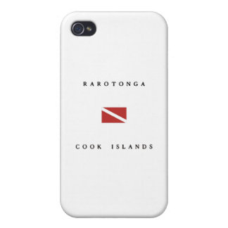 Rarotonga Cook Islands Scuba Dive Flag iPhone 4 Covers
