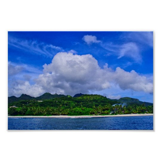 Rarotonga Island Poster