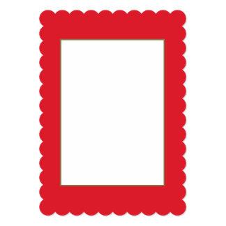 Rarotonga Red-Hibiscus Red-Ruby Red 13 Cm X 18 Cm Invitation Card