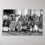 Ras Tafari with Ethiopian Royalty Poster