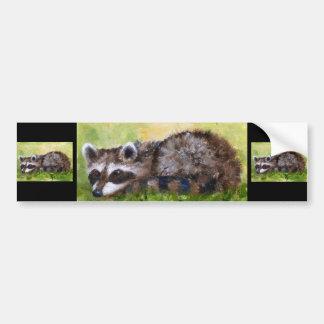 Rascal aceo Raccoon Bumper Sticker Car Bumper Sticker