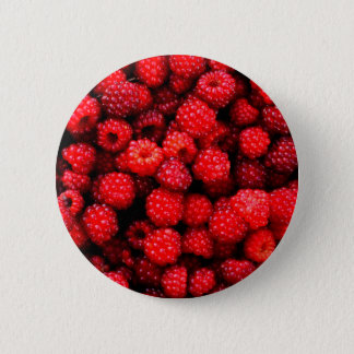 Raspberries 2 6 cm round badge