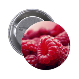 Raspberries 6 6 cm round badge