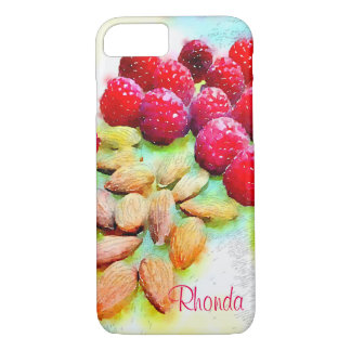 Raspberries and Almonds Watercolor iPhone 7 Case