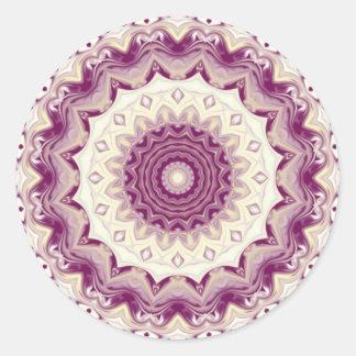 Raspberries & Cream Kaleidoscope Classic Round Sticker