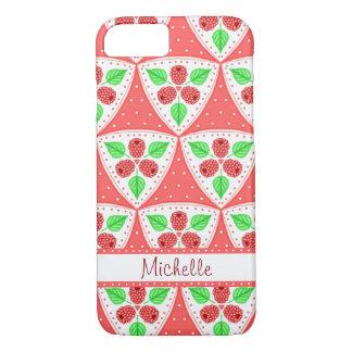 Raspberries Pattern Personalized Case