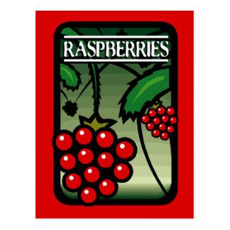 Raspberries Post Cards