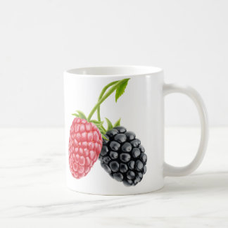 Raspberry and blackberry coffee mug