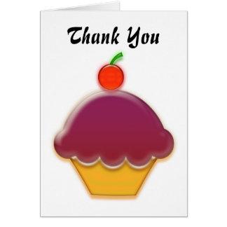 Raspberry and Cherry Cupcake Art Card