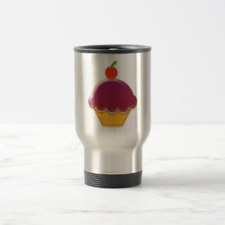 Raspberry and Cherry Cupcake Art Travel Mug