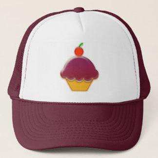 Raspberry and Cherry Cupcake Art Trucker Hat