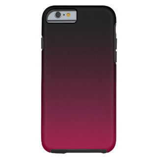 Raspberry and Licorice Ombre Tough iPhone 6 Case