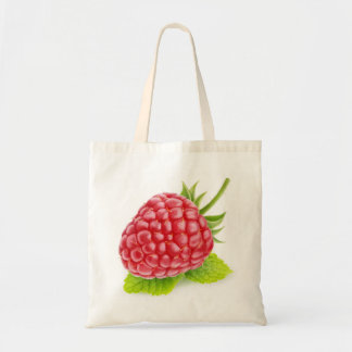Raspberry and mint tote bag