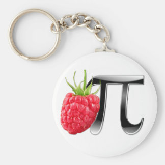 Raspberry and Pi symbol Basic Round Button Key Ring