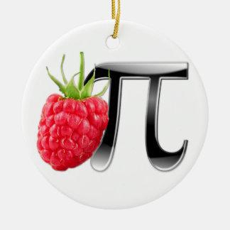 Raspberry and Pi symbol Christmas Ornament