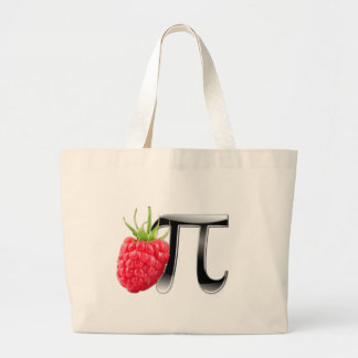 Raspberry and Pi symbol Large Tote Bag