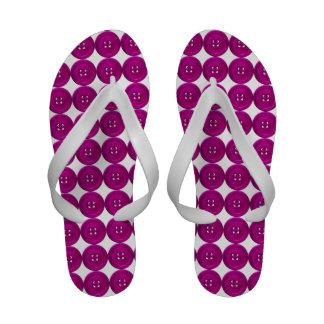 Raspberry Buttons Flip-Flops