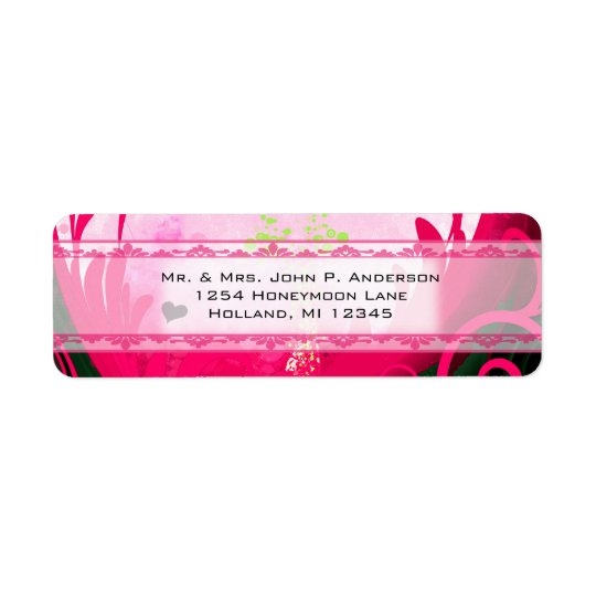 Raspberry Calla Lily Return Address Label