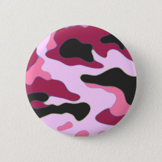 Raspberry Camo 6 Cm Round Badge