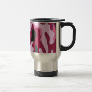 Raspberry Camo Travel Mug