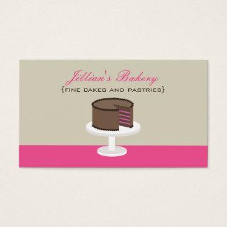 Raspberry Chocolate Layer Cake Bakery Card