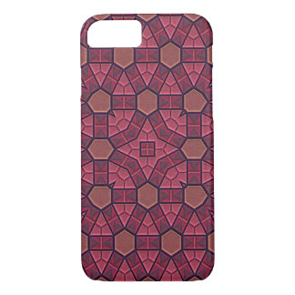 Raspberry Colored Tiles iPhone 7 Case
