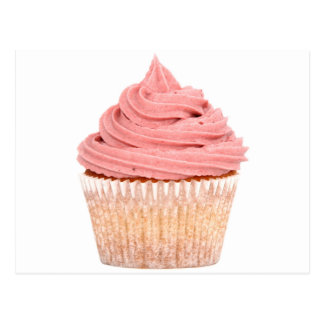 Raspberry cupcake postcard
