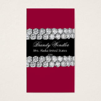 Raspberry Diamond Pageant Business Card