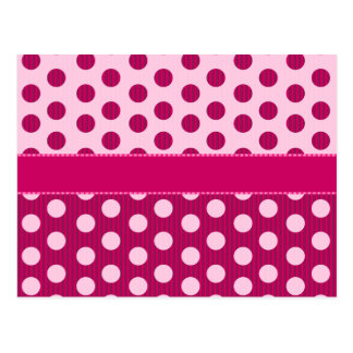 Raspberry Dots Post Cards