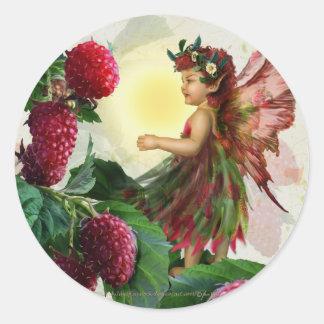 Raspberry Fairy Classic Round Sticker