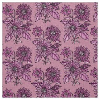 Raspberry Floral Bouquet Fabric