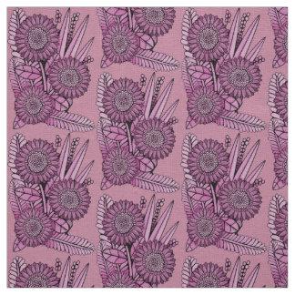 Raspberry Floral Spray Fabric