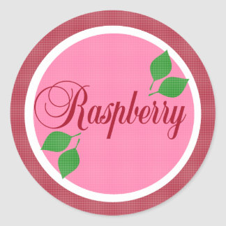 Raspberry Fruit Label Sticker