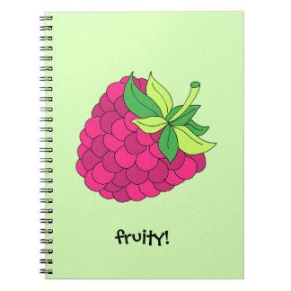 Raspberry Fruit Notebook