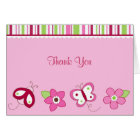 Raspberry Garden Ladybug Thank You Note Cards