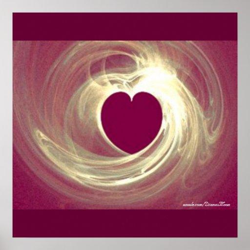 Raspberry Heart Poster