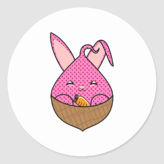Raspberry Hopdrop Mini Waffle Cone Round Sticker
