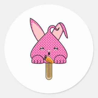 Raspberry Hopdrop Pop Round Stickers
