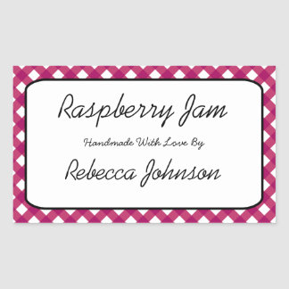 Raspberry Jam Custom Text Jar Label