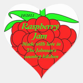 Raspberry Jam Jar Label (Customize)
