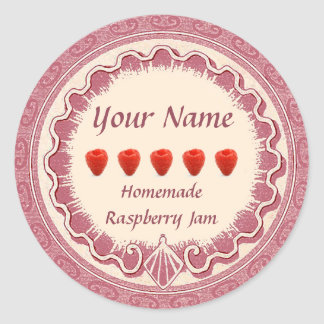 Raspberry Jam Label Personalize Pink