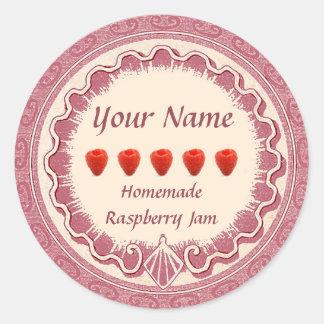 Raspberry Jam Label Personalize Pink