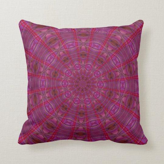 Raspberry Kaleidoscope Cushion