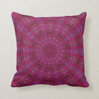 Raspberry Kaleidoscope Cushion