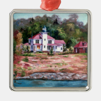 Raspberry Lighthouse Christmas Ornament