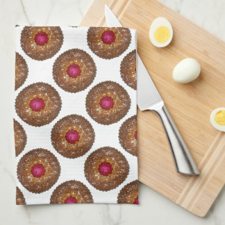 Raspberry Linzer Torte Christmas Cookie Xmas Towel