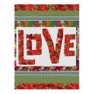 RASPBERRY Love :  Ideal Romantic Gift Postcard