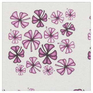 Raspberry Lucky Shamrock Clover Fabric