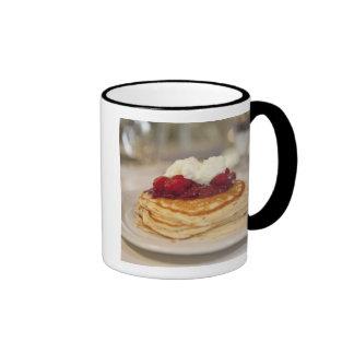 Raspberry pancakes mugs